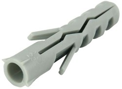 100 st plug 6x30mm. Nylon (100 stuks)