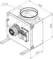 Ruck boxventilator MPS met EC motor 4090m³/h diameter 314 mm - MPS 280 EC 20-2