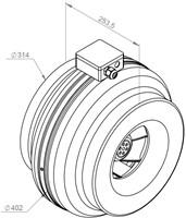 Ruck buisventilator RS 1170m³/h diameter 315 mm - RS 315 10-2