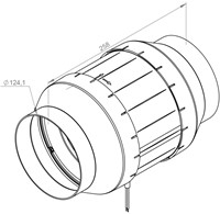 Ruck buisventilator Etamaster 275m³/h diameter  125 mm - EM 125L E2 01-2