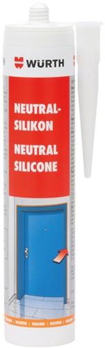 Siliconenkit neutraal wit koker 310ml. (stuk)