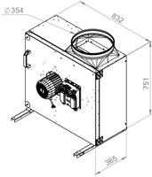 Ruck boxventilator MPS met EC motor 6245m³/h diameter 354 mm - MPS 400 EC 21-2
