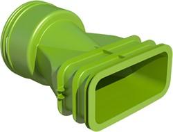 Ubbink Ventieladapter rond 90 mm naar 1 x plat ovaal 60x132