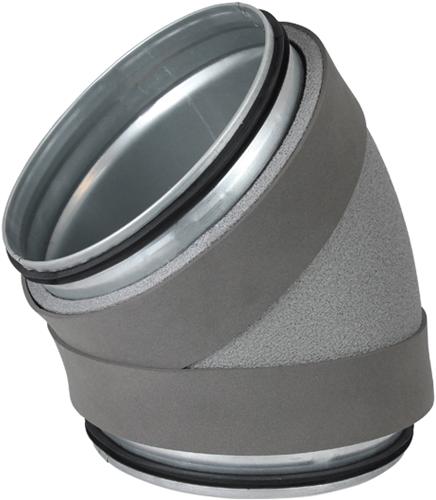 Thermoduct bocht 45 graden diameter 125 mm