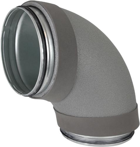 Thermoduct bocht 90 graden diameter 125 mm