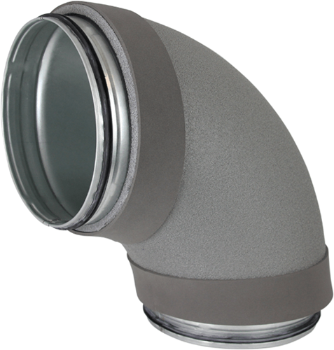 Thermoduct bocht 90 graden diameter 180 mm