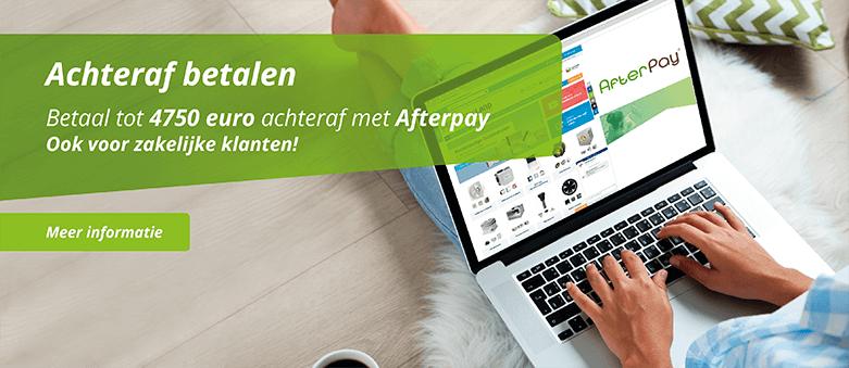 Aachteraf betalen met AfterPay tot 1500 euro. Alleen bij Ventilatieland.