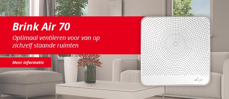 Brink Air 70 ventilator ventilatierooster decentrale WTW