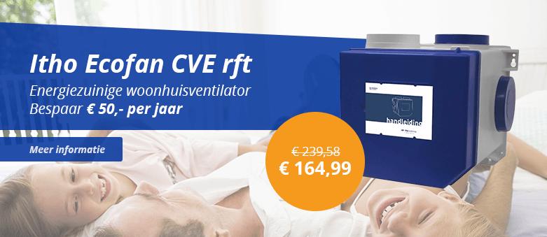 Itho Ecofan CVE rft energiezuinige woonhuis ventilator