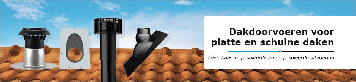Geïsoleerde en ongeïsoleerde dakdoorvoeren voor plat dak en schuin dak