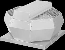 Ruck dakventilator verticaal met constante drukregeling en EC-motor (DVA ECC-serie)