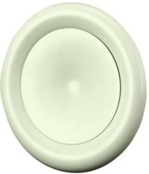 Ventilatie toevoer ventiel metaal Ø 125 wit met klemveren - DVSC-P125