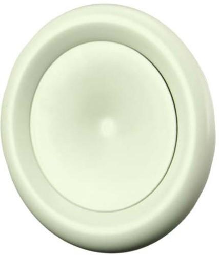Ventilatie toevoer ventiel metaal Ø 200 wit met klemveren - DVSC-P200