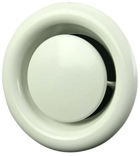 Ventilatie afvoer ventiel metaal Ø 125 mm wit met montagebus - DVS125 (DVS125)