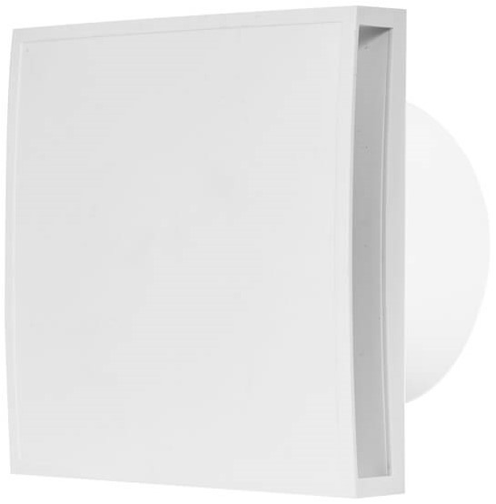 Badkamer Ventilator 100 Mm Wit Timer En Vochtsensor Design Eet100ht Bij Ventilatieland Nl