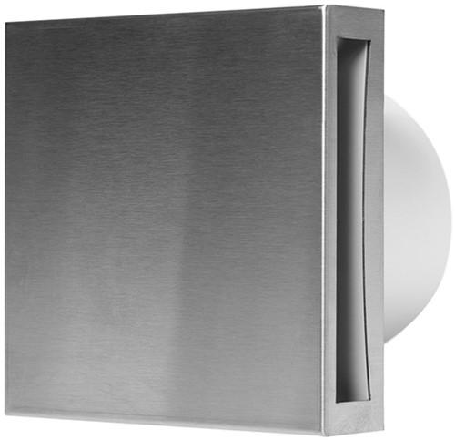 Badkamer ventilator diameter: 100 mm RVS met TIMER - design EET100Ti