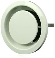 Ventilatie afvoer ventielen metaal 100 mm wit met klemveren – DVSER100