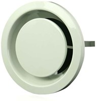 Ventilatie afvoer ventielen metaal 80 mm wit met klemveren – EFF80-1