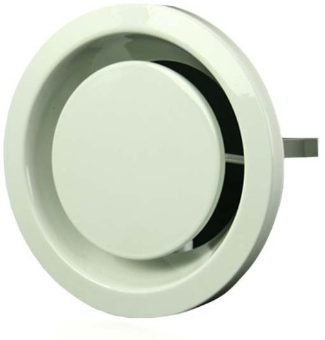Ventilatie afvoer ventielen metaal 80 mm wit met klemveren – DVSER 80
