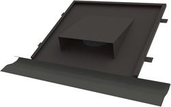 Thermoduct vlakke horizontale dakdoorvoer Ø160 tbv hellend dak