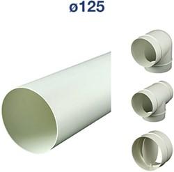 Ventilatiebuis kunststof rond en hulpstukken Ø 125 mm