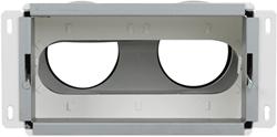Uniflexplus wandcollector achteraansluiting 2x Ø75 mm (MCA 75)