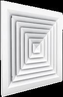 Plafondroosters multidirectioneel voor toevoer en afvoer