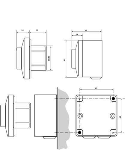 3-standen potentiometer tekeningen