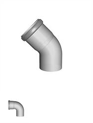 PP kunststof rookgasafvoer bocht (luchtafvoer en toevoer)