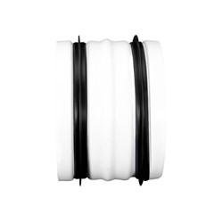 Verbindingstuk wit diameter 125mm metaal - RAL 9010