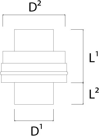 DW diameter  180 mm (180/230) Topstuk EW I316L/I304 (D0,5/0,6)-2
