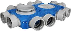 Uniflexplus ventilatie subverdeelbox 12x Ø90 mm met tuit diameter 160