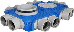 Uniflexplus ventilatie subverdeelbox 12x Ø75 mm met tuit Ø180 mm