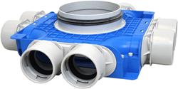 Uniflexplus ventilatie subverdeelbox 8x Ø75 mm met tuit Ø180 mm