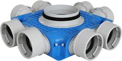 Uniflexplus ventilatie subverdeelbox 8x Ø90 mm met tuit diameter 160