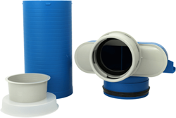 Uniflexplus ventielcollector 1 x Ø 90mm met schuifhuls 250 mm en speciedeksel Ø 125mm