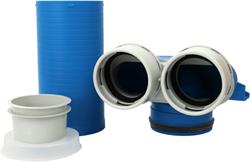 Uniflexplus ventielcollector 2x Ø90 mm met schuifhuls 250 mm en speciedeksel Ø 125mm