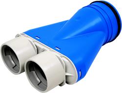 Uniflexplus ventilatie ventielcollector 2x 75 met tuit Ø125 mm