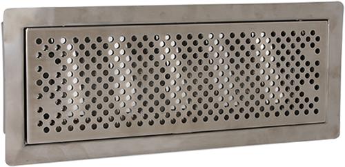 Uniflexplus ventilatie instelbaar vloerrooster met gaten - GEBORSTELD RVS
