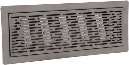 Uniflexplus ventilatie instelbaar vloerrooster met sleuven - GEBORSTELD RVS