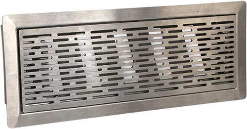 Vent-Axia Uniflexplus ventilatie instelbaar vloerrooster met sleuven - GEPOLIJST RVS