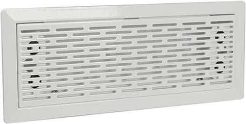 Uniflexplus ventilatie instelbaar vloerrooster met sleuven - WIT