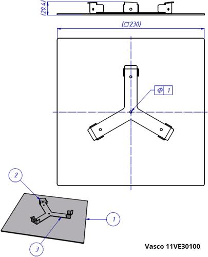 Vasco tekening ventiel 11VE30100 - 19151204