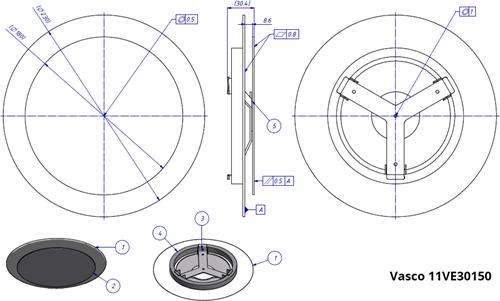 Vasco tekening ventiel 11VE30150 - 19151203