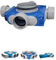 Uniflexplus 90 mm verdeelboxen