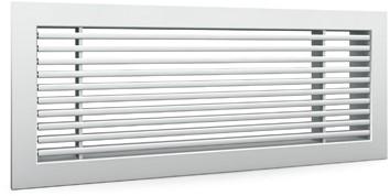 Staafrooster voor wandmontage met klemveren - 1400x100 mm