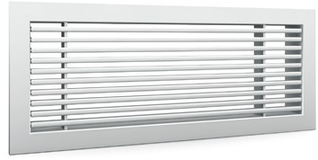 Staafrooster voor wandmontage met klemveren - 500x150 mm