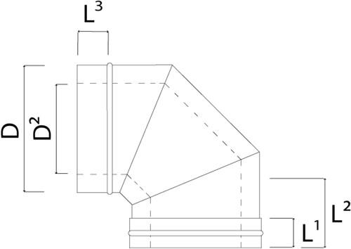 Concentrische diameter  100 - 150 mm bocht 87 gr I316L/I304 (D0,5/0,6)-2