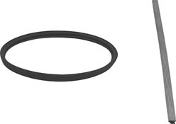 Afdichtingsrubber diameter  230 mm VITON