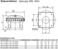 Zehnder - J.E. StorkAir dakventilator MX210 ZMV 3701m3/h met werkschakelaar - 230V-2